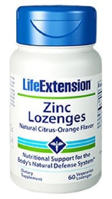 LIFE EXTENSION ZINC LOZENGES NATURAL CITR-ORAN FLAV 18,75MG