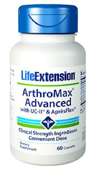 LIFE EXTENSION ARTHROMAX ADVANCED 60 VEG, UC-II & APRESFLEX