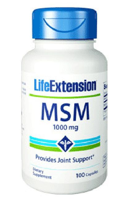 LIFE EXTENSION MSM(METHYLSULFONYLMETHANE)1000MG 100CAPS