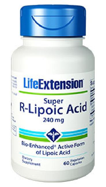 LIFE EXTENSION SUPER R-LIPOIC  ACID 240 MG 60VEG. CAPS