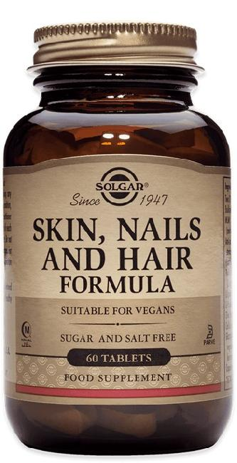 SOLGAR SKIN, NAILS AND HAIR FORMULA ,60 TABS