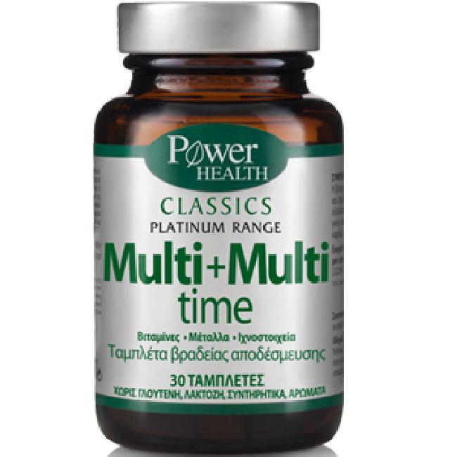 POWER HEALTH CLASSICS PLATINUM- MULTI+MULTI TIME 30s Tabs