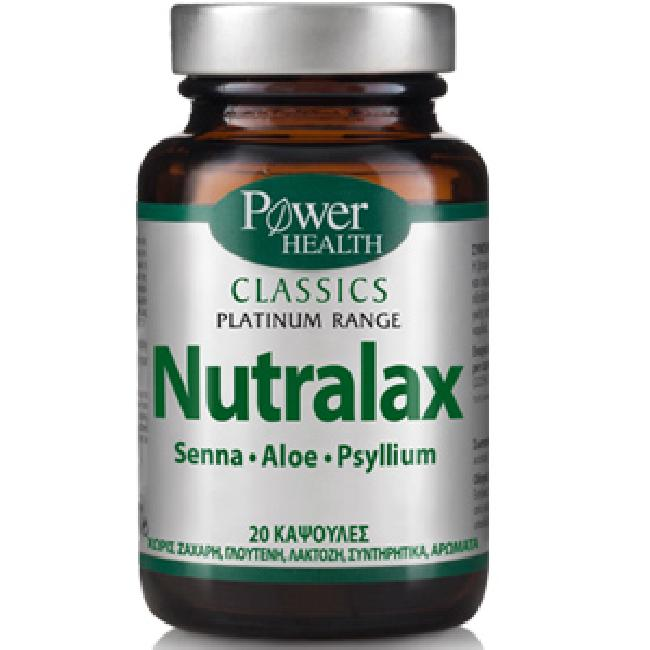 POWER HEALTH CLASSICS PLATINUM- NUTRALAX , 20 CAPS