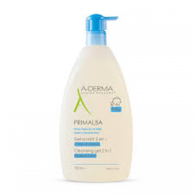 A-Derma Primalba Baby Cleansing Gel 2 in 1 Body & Hair , 750ml