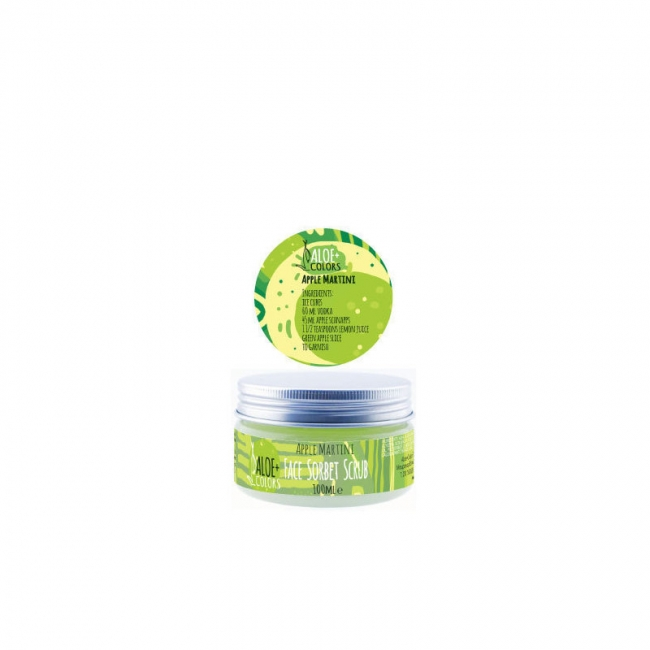 Aloe+ Colors Face Sorbet Scrub Apple Martini 100ml