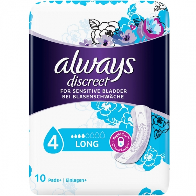 Αlways Discreet Lady Pads Long Plus, 8 Τεμάχια