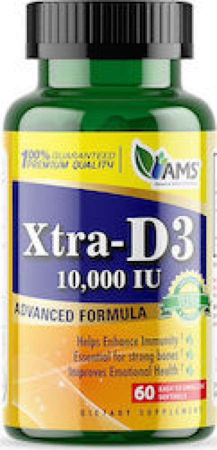 AMS Xtra D3 10000iu , 60 Softgels