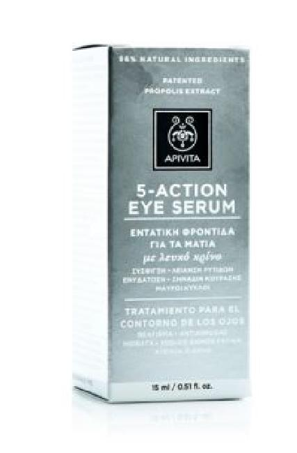 APIVITA 5 ACTION EYE SERUM ΜΕ ΛΕΥΚΟ ΚΡΙΝΟ 15ML