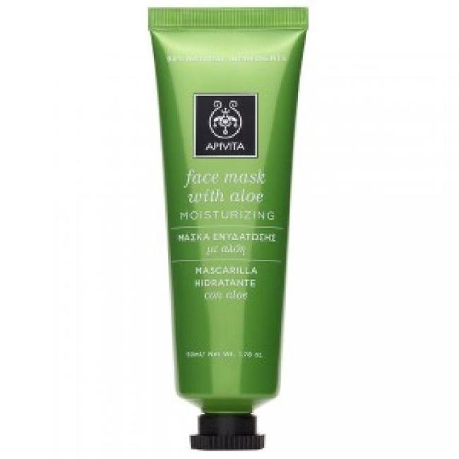 Apivita Face Mask with Aloe, 50 ml