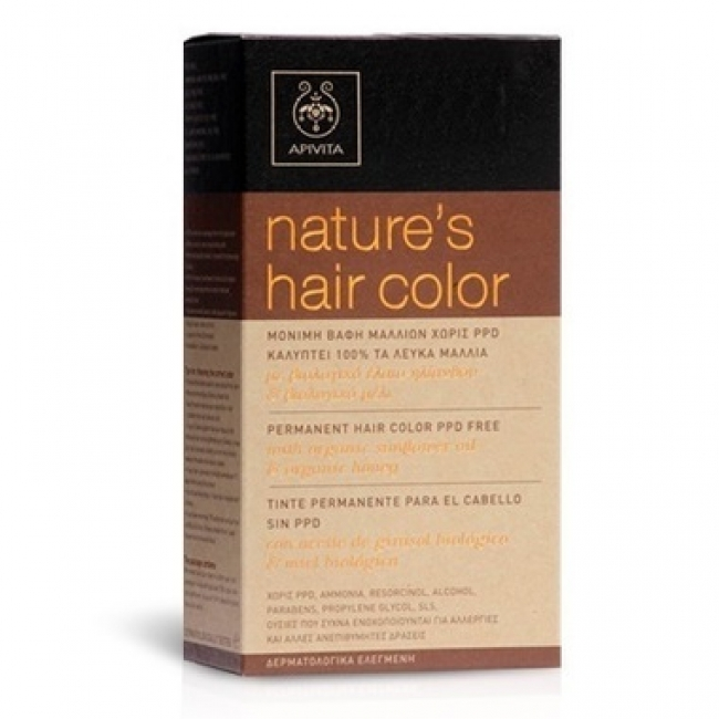 Apivita Nature's Hair Color 7.35 Καραμέλα, 50ml