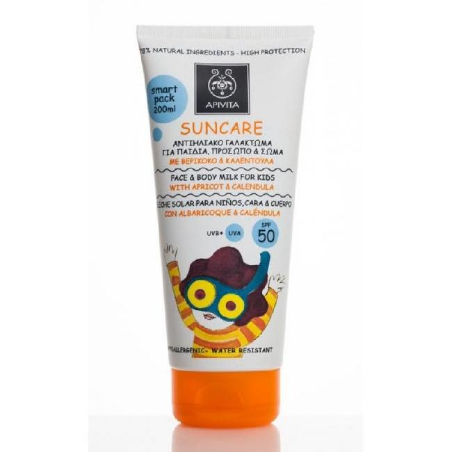 Apivita Suncare Kids Protection Face & Body Milk SPF50 , 150ml
