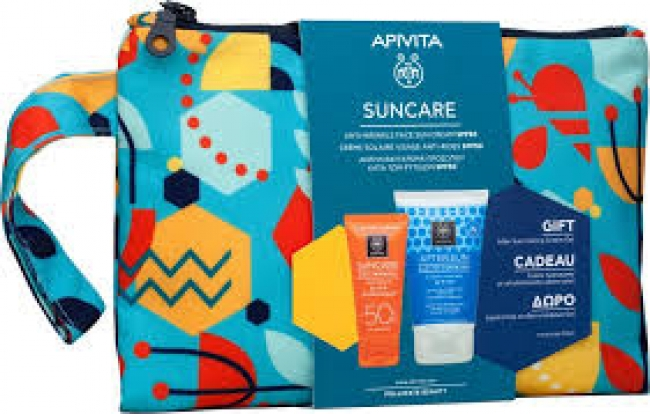 Apivita Suncare Anti Wrinkle Face Cream SPF50 50ml & ΔΩΡΟ After Sun Cooling Cream Gel 100ml Set
