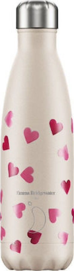 Chilly\'s Bottle Bridgewater Pink Hearts Μπουκάλι Θερμός, 500ml