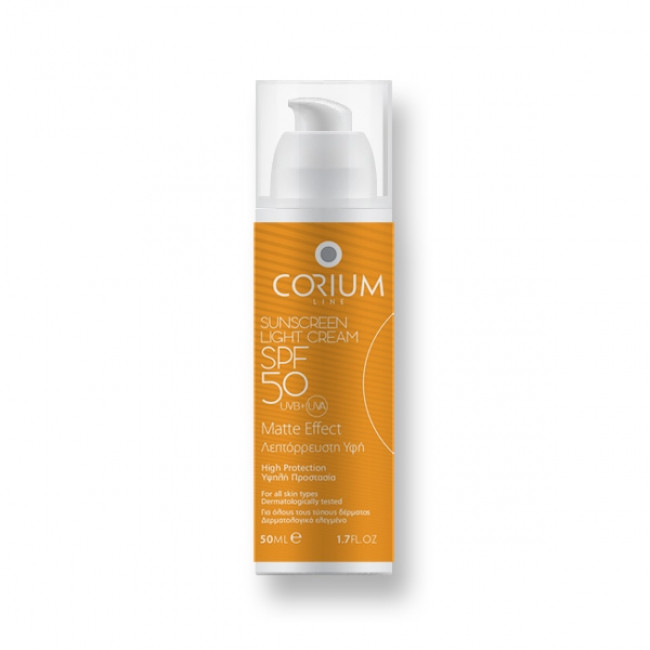 Corium Line Sunscreen Light Cream SPF50 Matte Effect 50ml