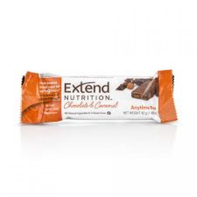 Extend Nutrition Chocolate & Caramel Διατροφική Μπάρα με Στέβια, 42g