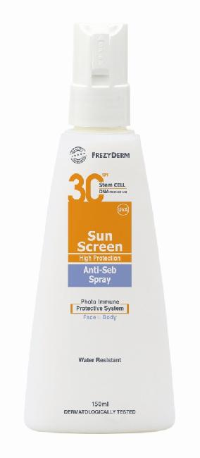 FREZYDERM SUNSCREEN ANTISEB SPF30 150ML