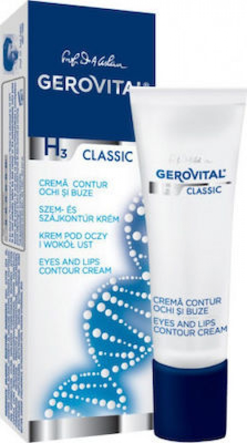 Gerovital H3 Classic Eyes & Lips Contour Cream 15ml