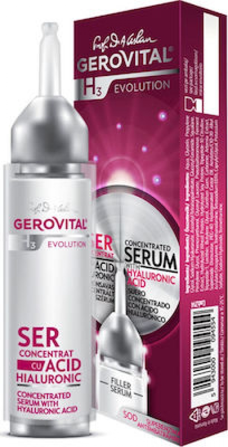 Gerovital H3 Evolution Concentrated Serum with Hyaluronic Acid 10ml