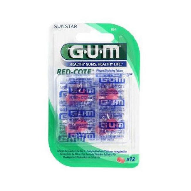 GUM RED-COTE DISCLOSING TABLETS x 12