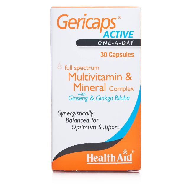HEALTH AID GERICAPS ACTIVE MULTIVIT 30CAPS