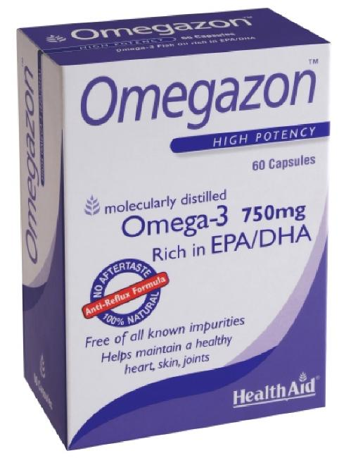 Health Aid Omegazon 750mg , 60 κάψουλες