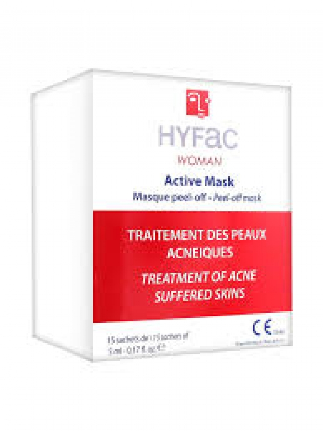 Hyfac Woman Active Mask Peel-Off Mask 15 Sachets