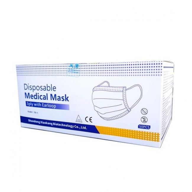Shandong Xiaokang Biotechnology Co Ltd XK-A Disposable Medical Mask 3-ply Type II EN 14683 with Earloop 50τμχ, συσκευασμένες σε δεκάδες