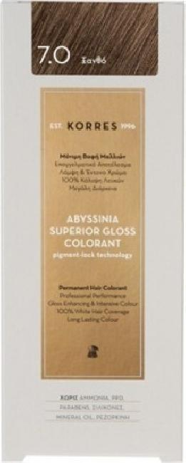 Korres Abyssinia Superior Gloss Colorant No 7.0 Ξανθό, 50ml