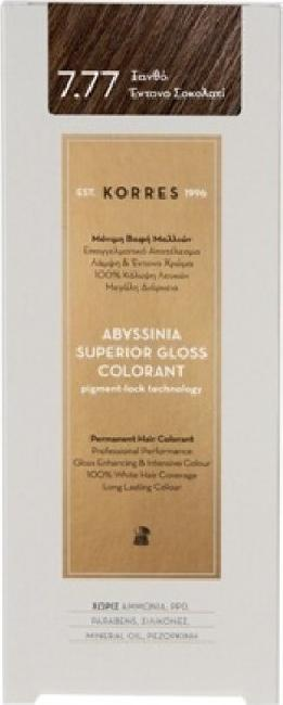 Korres Abyssinia Superior Gloss Colorant No 7.77 Ξανθό Έντονο Σοκολατί, 50ml