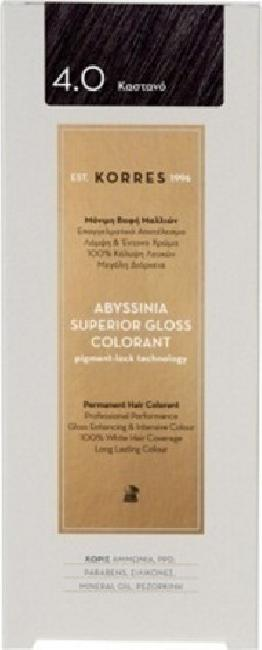 Korres Abyssinia Superior Gloss Colorant No 4.0 Καστανό, 50ml