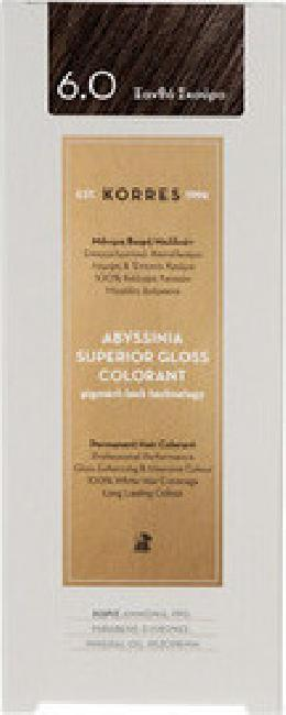 Korres Abyssinia Superior Gloss Colorant  No 6.0 Ξανθό Σκούρο, 50ml