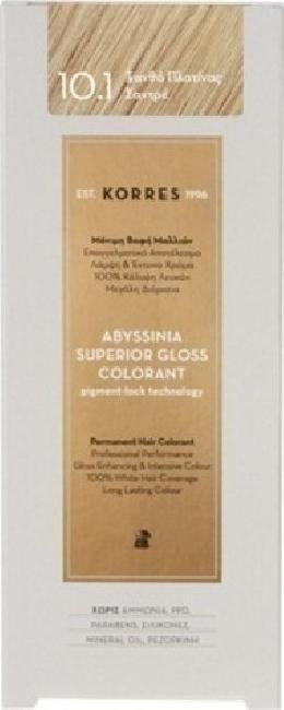 Korres Abyssinia Superior Gloss Colorant No 10.1 Ξανθό Πλατίνας Σαντρέ, 50ml