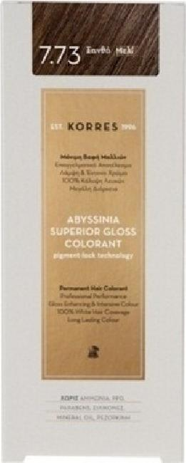 Korres Abyssinia Superior Gloss Colorant No 7.73 Ξανθό Μελί, 50ml