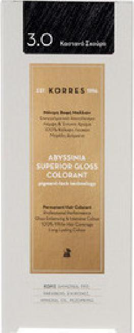 Korres Abyssinia Superior Gloss Colorant  No 3.0 Σκούρο Καστανό, 50ml