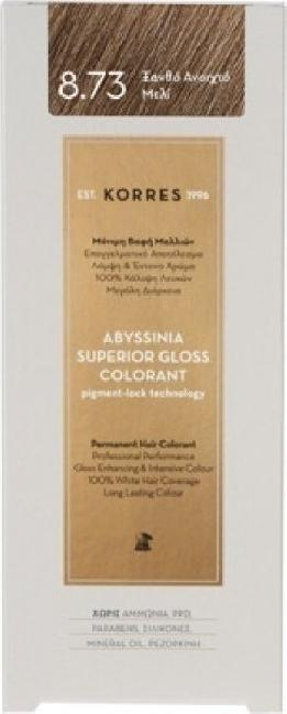 Korres Abyssinia Superior Gloss Colorant No 8.73 Ξανθό Ανοιχτό Μελί, 50ml