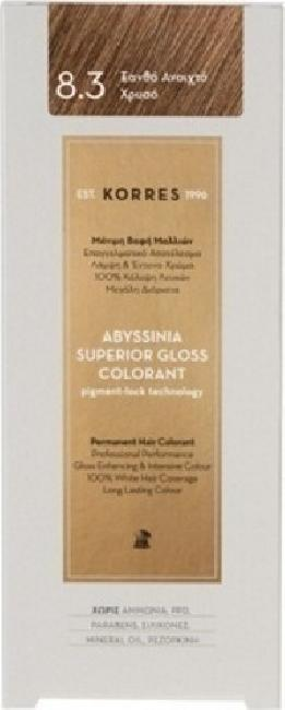 Korres Abyssinia Superior Gloss Colorant No 8.3 Ξανθό Ανοιχτό Χρυσό, 50ml