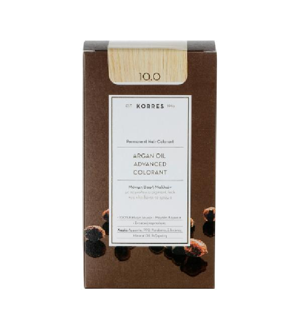 Korres Argan Oil Advanced Colorant 10.0 Ξανθό Πλατίνας ,50ml