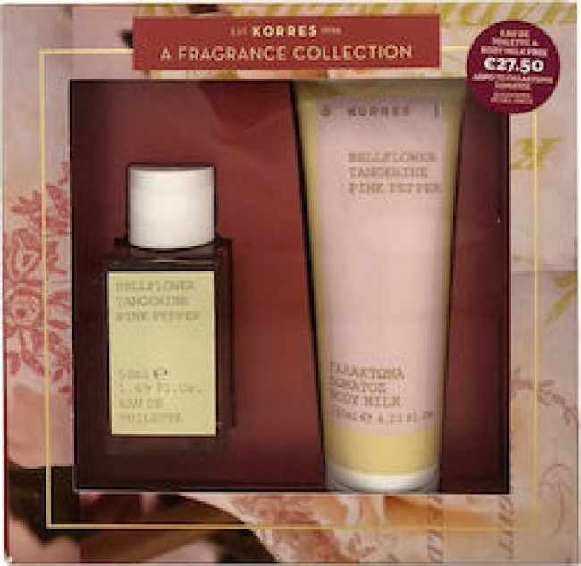 Korres Promo 'Αρωμα Bellflower Tangerine Pink Pepper Eau De Toilette 50ml & ΔΩΡΟ Body Milk 125ml