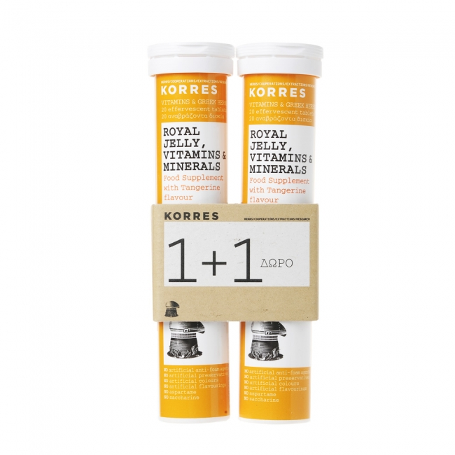 Korres Royal Jelly Vitamins & Minerals 2x18 Αναβράζοντα Δισκία