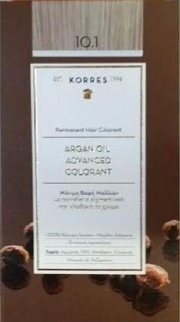Korres Argan Oil Advanced Colorant 10.1 Ξανθό Πλατίνας Σαντρέ ,50ml