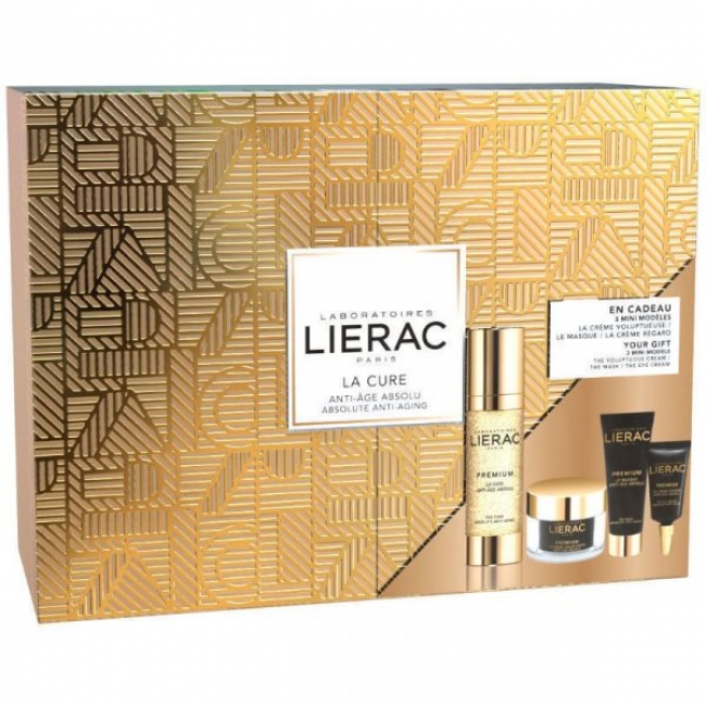 Lierac Premium La Cure 30ml Promo & ΔΩΡΟ La Creme Voluptueuse 15ml & Le Masque 10ml & La Creme Regard 3ml