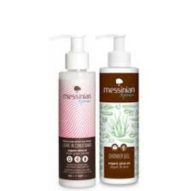 Messinian Spa Leave In Conditioner 150ml + Showergel Yogurt & Aloe 150ml