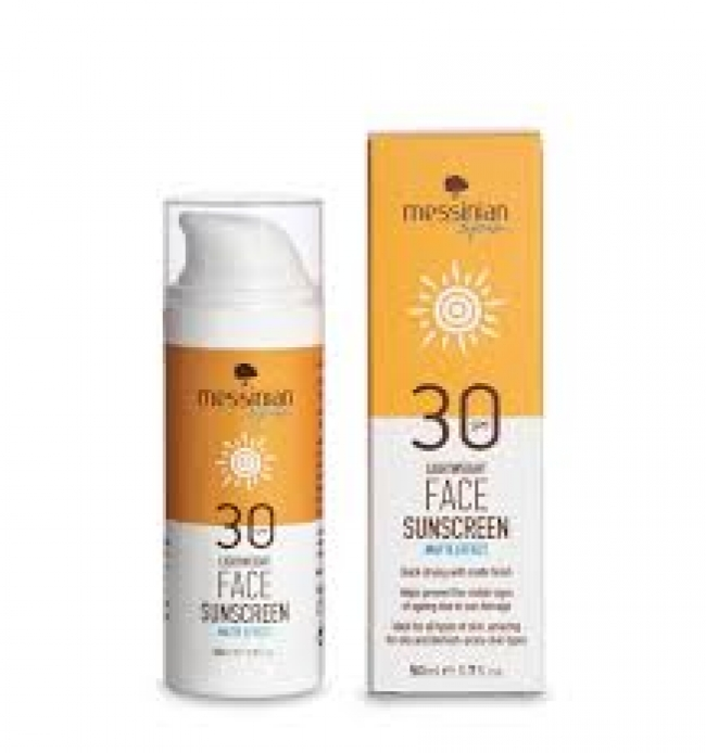 Messinian Spa Lightweight Sunscreen Matte Effect SPF30 50ml