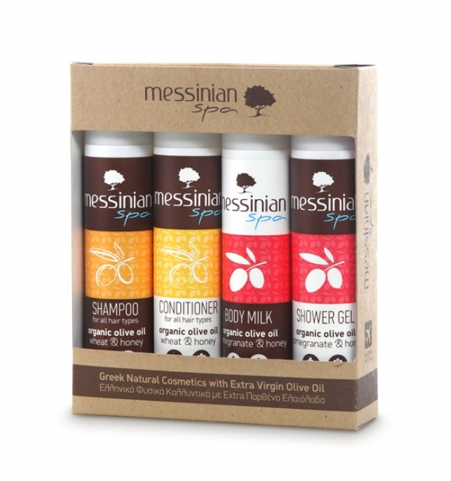 Messinian Spa Travel Kit No.1 (Shower Gel, Shampoo, Body Milk, Conditioner 4x55ml)