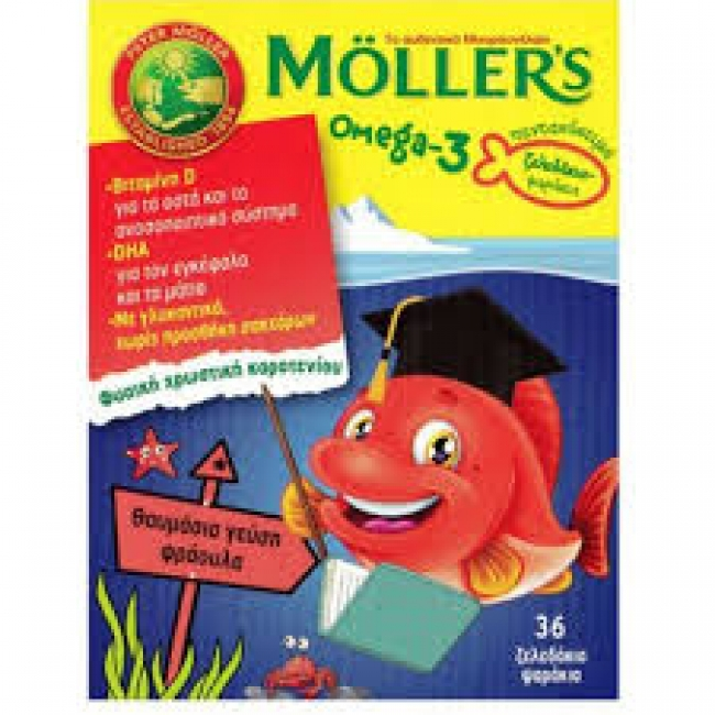 Moller's Omega-3, 36 gummies with Strawberry Flavour