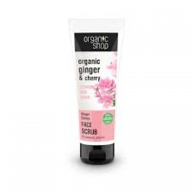 Natura Siberica Organic Shop Ginger & Cherry Cleansing Face Scrub 75ml