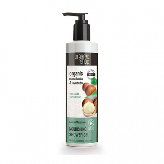 Natura Siberica Organic Shop Macadamia & Avocado Wellness Shower Gel , 280ml