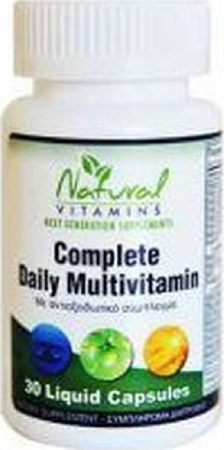 Natural Vitamins Complete Daily Multivitamin , 30 ταμπλέτες
