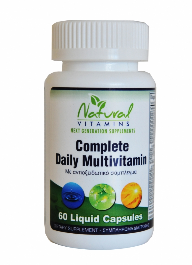 Natural Vitamins Complete Daily Multivitamin, 60 Caps