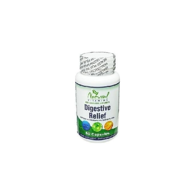 Natural Vitamins Digestive Relief, 60caps